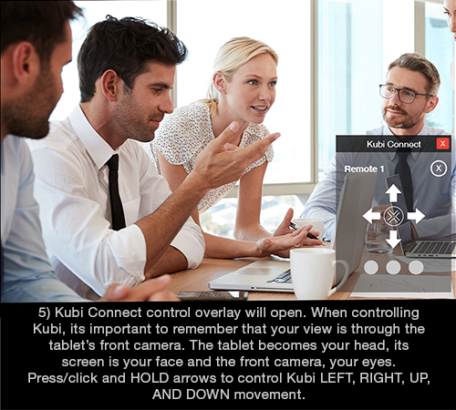 Kubi Connect Widget for Windows screen 5: Kubi controls open in small overlay